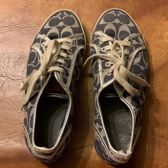 Dark navy blue Coach sneakers
